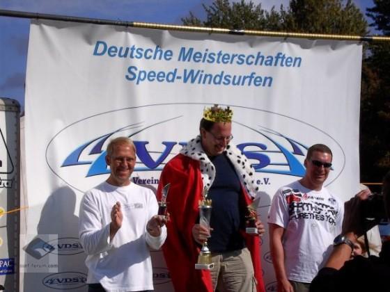 Siegerehrung German Speedking 2009, v.l. n. r.: M. Merle, Th. Döblin, Th. Mallon