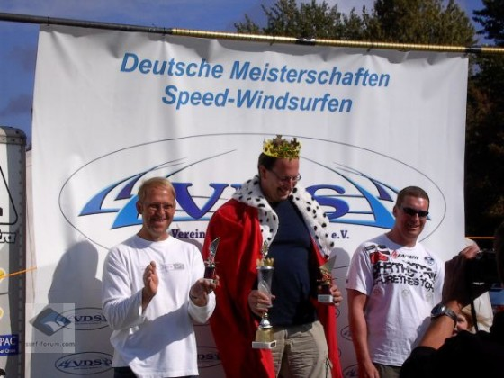 Siegerehrung German Speedking 2009, v.l. n. r.: M. Merle, Th. Döblin, Th. Mallon