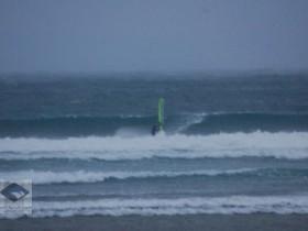 Sideshore und guter Swell an der Grenze zu Spanien